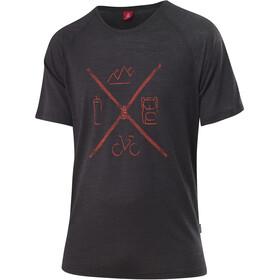 Löffler Merino Tencel T-Shirt Herren schwarz/rot